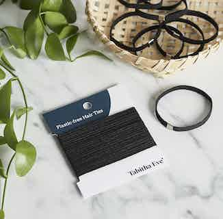 Plastic Free Biodegradable Hair Ties | Natural or Black from Tabitha Eve in Haircare, Sustainable Beauty & Health