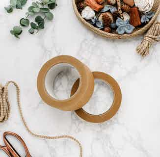 Biodegradable Paper Parcel Tape | 24mm or 48mm from Tabitha Eve in Homeware, Sustainable Homeware & Leisure