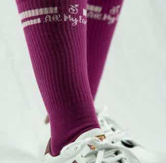 GOTS Organic Cotton Long Striped Sock | Single | Purple from All My Eco