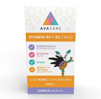 Vitamin D3 + K2 Child from AvaCare in Vitamins & Supplements, Sustainable Beauty & Health