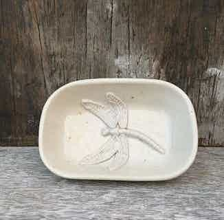Iffley Soap Dish - Dragonfly from Oxford Clay in Accessories, Bathroom