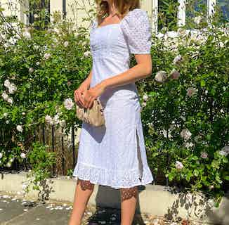 Ruth Cotton Broderie Midi Dress from Me & Maeve Grace in Dresses, Dresses & Skirts