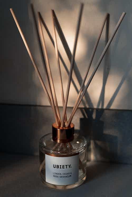 Linden, Cedar & Rose Geranium   Essential Oils Reed Diffuser   115ml from Ubiety in Lighting & Candles, Homeware