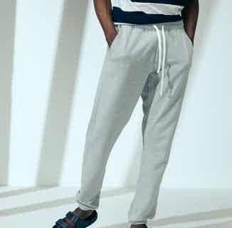 Organic Cotton Men's Drawstring Track Pant   Grey from Cut & Pin in Men's Sustainable Fashion,
