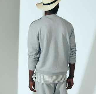 Organic Cotton Popper Shoulder Men's Sweatshirt | Grey from Cut & Pin in Men's Sustainable Fashion,