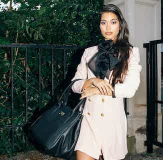 Large Luxury Vegan Leather Indy Handbag   Black or Nude from Melina Bucher in Shoulder Bags, Bags