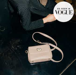 Luxury Vegan Leather Trudy Clutch Bag   Black or Nude from Melina Bucher in Shoulder Bags, Bags