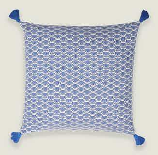 Ikigai Cushion Cover in Blue from Tikauo in Cushions & Covers, Furnishings