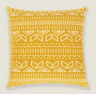 Iman Cushion Cover in Yellow from Tikauo in Cushions & Covers, Furnishings