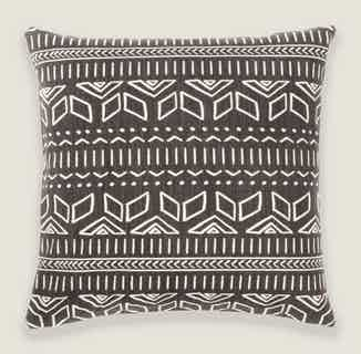 Iman Cushion Cover in Charcoal from Tikauo in Cushions & Covers, Furnishings