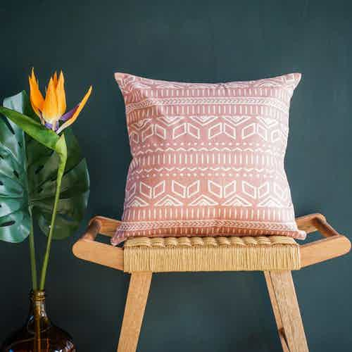 Iman Cushion Cover in Pink from Tikauo in Cushions & Covers, Furnishings