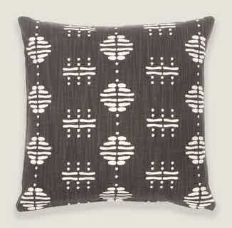Nala Cushion Cover in Charcoal from Tikauo in Cushions & Covers, Furnishings