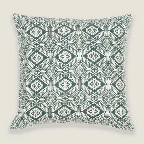 Omar Cushion Cover in Green from Tikauo in Cushions & Covers, Furnishings