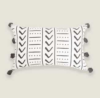 Uma Rectangle Cushion Cover in Charcoal from Tikauo in Cushions & Covers, Furnishings