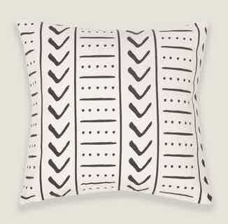 Uma Square Cushion Cover in Charcoal from Tikauo in Cushions & Covers, Furnishings