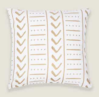 Uma Square Cushion Cover in Gold from Tikauo in Cushions & Covers, Furnishings