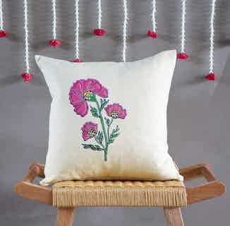 Zahra Floral Cushion Cover from Tikauo in Cushions & Covers, Furnishings