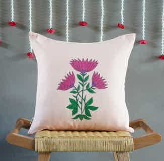 Juhi Floral Pink Cushion Cover from Tikauo in Cushions & Covers, Furnishings