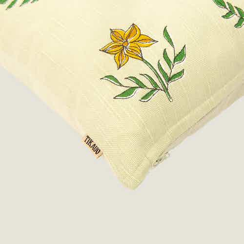 Gulzar Floral Cushion Cover from Tikauo in Cushions & Covers, Furnishings