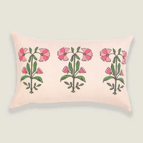Nasrin Floral Pink Cushion Cover from Tikauo in Cushions & Covers, Furnishings