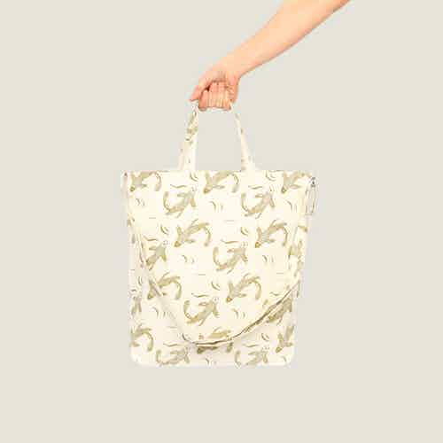 Sakana Tote Bag in Herb from Tikauo in Totes Shoppers, Bags