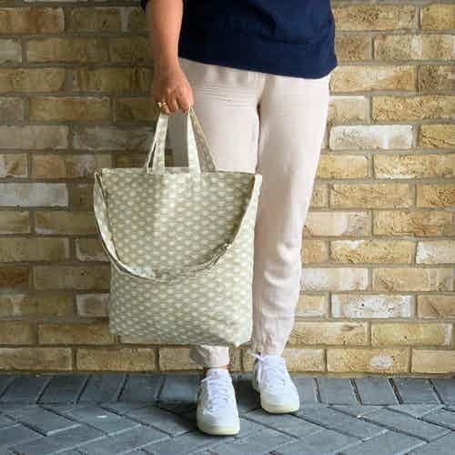Wabi Sabi Tote Bag in Herb from Tikauo in Totes Shoppers, Bags