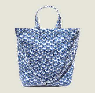 Ikigai Tote Bag in Blue from Tikauo in Totes Shoppers, Bags