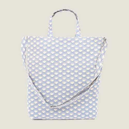 Wabi Sabi Tote Bag in Blue from Tikauo in Totes Shoppers, Bags
