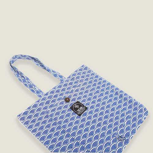 Ikigai Magic Tote Bag in Blue from Tikauo in Totes Shoppers, Bags