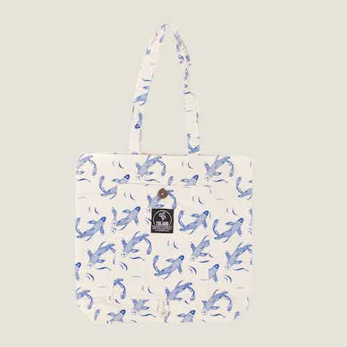 Sakana Magic Tote Bag in Blue from Tikauo in Totes Shoppers, Bags