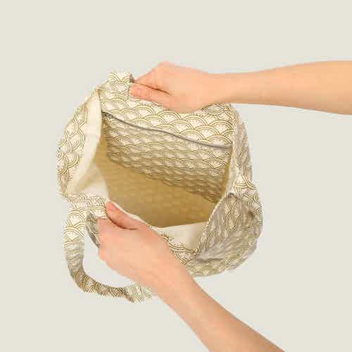 Wabi Sabi Magic Tote Bag in Herb from Tikauo in Totes Shoppers, Bags