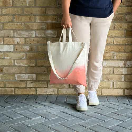Ombre Tote in Pink from Tikauo in Totes Shoppers, Bags