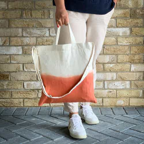 Ombre Tote in Terracotta from Tikauo in Totes Shoppers, Bags