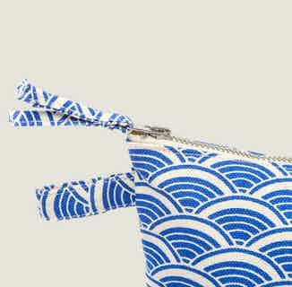 Ikigai Wash Bag in Blue from Tikauo in Wash Bags, Travel Essentials & Storage