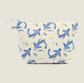Sakana Wash Bag in Blue from Tikauo in Wash Bags, Travel Essentials & Storage