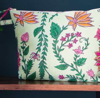 Shalimar Floral Wash Bag from Tikauo in Wash Bags, Travel Essentials & Storage