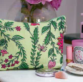 Shalimar Floral Makeup Bag from Tikauo in Wash Bags, Travel Essentials & Storage
