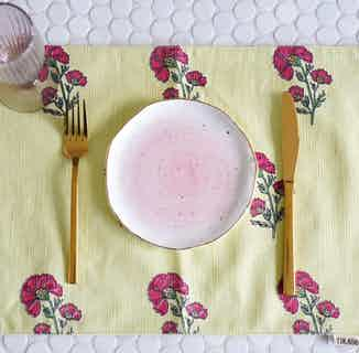 Alia Floral Placemats - Set of 2 from Tikauo in Dining, Kitchen