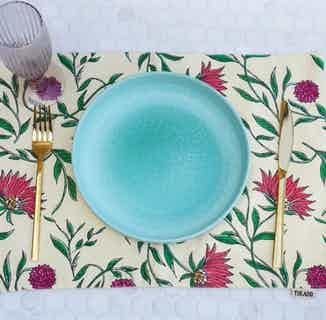 Firdos Floral Placemats - Set of 2 from Tikauo in Dining, Kitchen