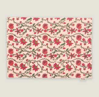 Bahar Floral Pink Placemats - Set of 2 from Tikauo in Dining, Kitchen