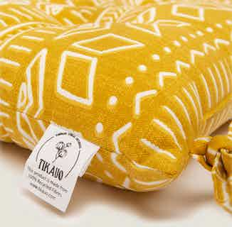 Iman Yellow Seat Pads from Tikauo in Seat Pads, Furnishings