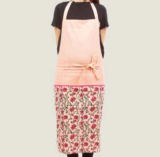 Bahar Floral Aprons in Pink from Tikauo in Cooking, Kitchen