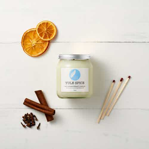 Yule Spice Soy Aromatherapy Candle from Corinne Taylor in Lighting & Candles, Homeware