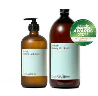 Eco Friendly Washing Up Liquid Refill & Re-use Duo   Rhubarb from Colt & Willow in Cleaning Products, Household & Laundry