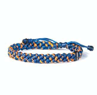 Braided Blue and Orange Rope Bracelet from Hylander in Bracelets, Jewellery