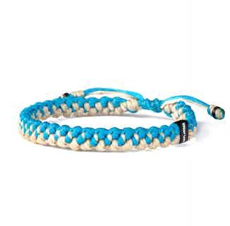 Ecru & Blue Twined Nautical Rope Bracelet from Hylander in Bracelets, Jewellery