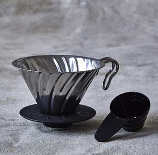 Hario V60   Metal Filter Coffee Dripper   Steel from London Grade Coffee in Kitchen, Sustainable Homeware & Leisure