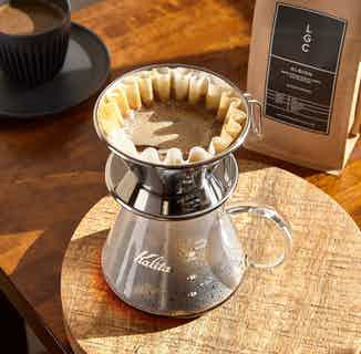 Kalita Wave Tsubame 185   Filter Coffee Dripper   Stainless Steel from London Grade Coffee in Kitchen, Sustainable Homeware & Leisure