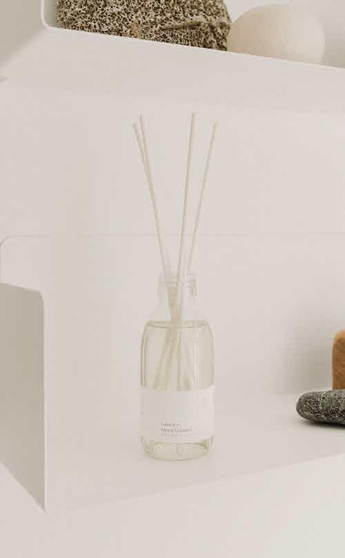 Natural Essential Oil Reed Diffuser   Lemon + Litsea Cubeba   12-16 weeks from Soomish in Lighting & Candles, Homeware