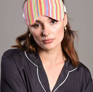 Organic Cotton & Bamboo Silk Eye Mask | Pink Piping Jessica from Billy Sleeps in Sleepwear, Women's Sustainable Clothing